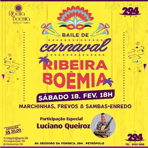 Baile de Carnaval 2017 do bar 294 - Cartaz