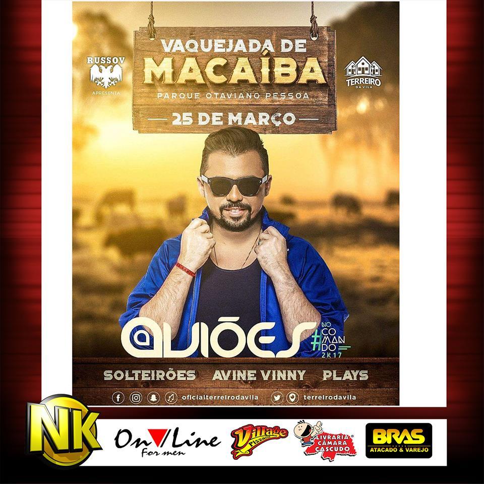 Vaquejada de Macaiba - 25 de março de 2017 - sábn- cartaz